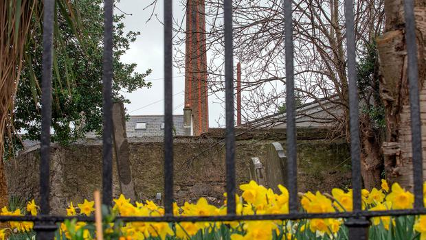 The old chimney at the site of the Sisters of Charity Magdalene Laundry in Donnybrook. Photo: Tony Gavin 6/3/2017