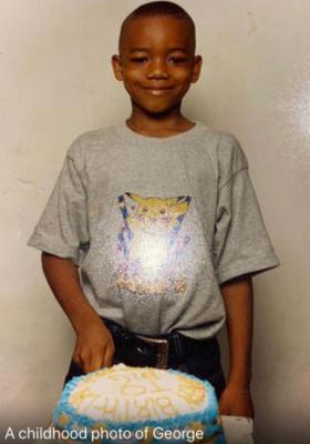 George Nkencho as a child