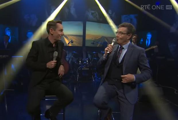 Ryan Tubridy and Daniel O'Donnell duet on The Late Late Show