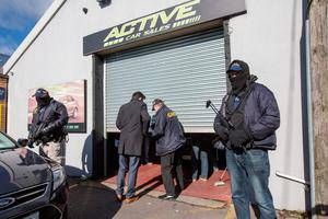 RAIDS: CAB targeted Liam Byrne and raided LS Active Car Sales where they seized a number of luxury vehicles
