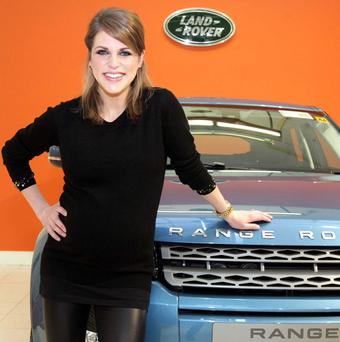 Amy Huberman with her new Range Rover Evoque