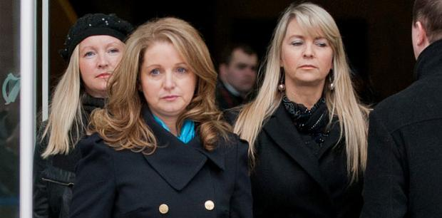 Diane Begley, centre, wife of businessman Paul Begley with her sisters Claire. left, and Michelle