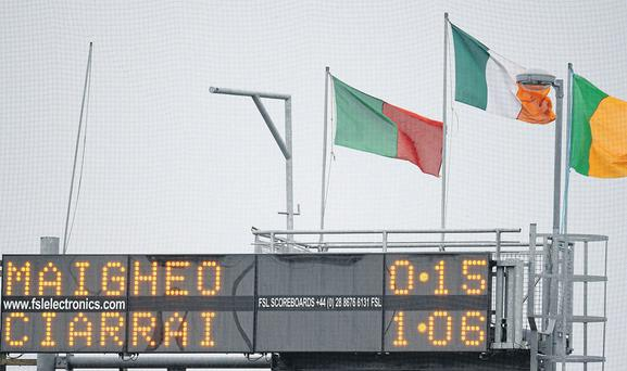 The scoreboard in MacHale Park only tells part of the story of Mayo's victory as Kerry failed to score for the entire second half