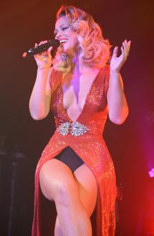 Kimberley's outfit had a vast expanse of knickers on display.