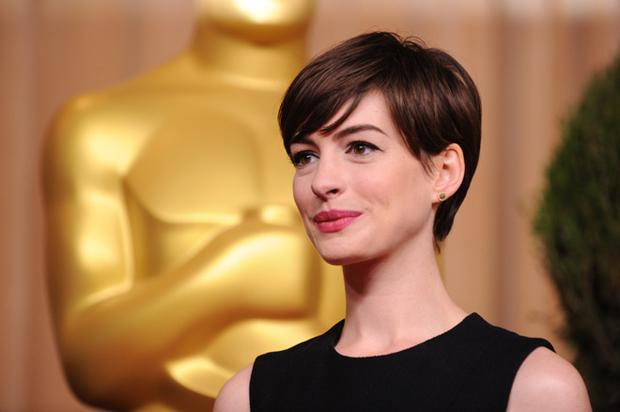 Anne Hathaway was elegant in a black dress from The Row.
