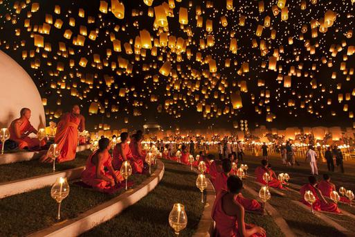 Yi Peng Lantern Festival 2012, by Ng Chai Hock. Picture: Ng Chai Hock, Singapore, Shortlist, Arts and Culture, Open competition 2013 Sony World Photography Awards