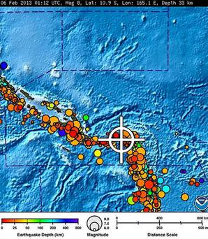 A bulletin released by the Pacific Tsunami Warning Center/NOAA/NWS