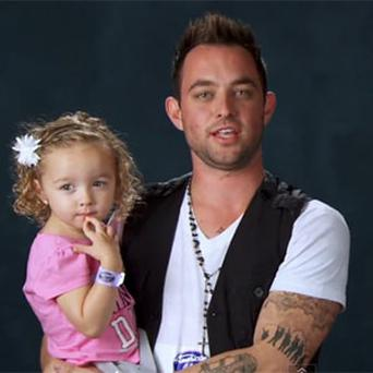 Matt Farmer auditioned with his daughter.