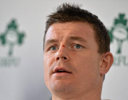 Brian O'Driscoll during a press conference today