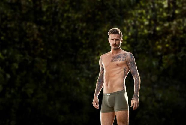David in the just-released ad for his H&M bodywear range.