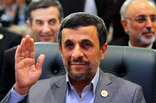 Iran's President Mahmoud Ahmadinejad attends the Organisation of Islamic Cooperation (OIC) summit in Cairo