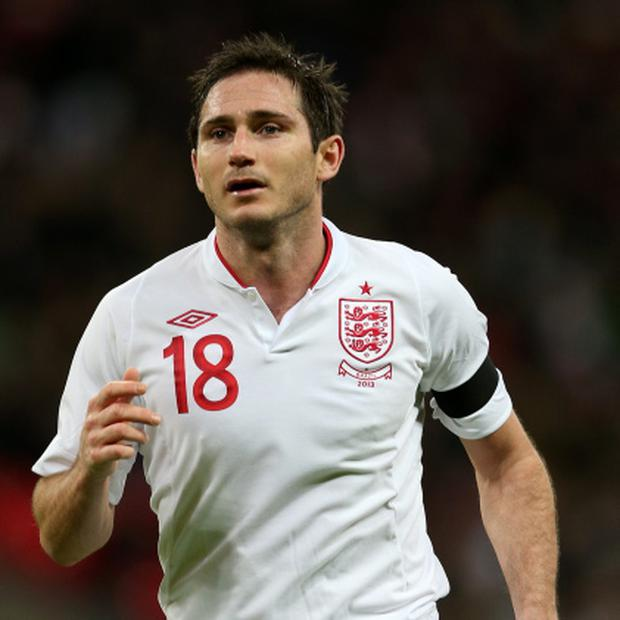 Frank Lampard in action against Brazil