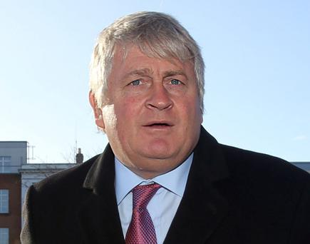 Denis O'Brien arriving at the Four Courts Pic: Collins Courts