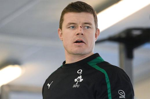 Ireland's Brian O'Driscoll during a gym session before squad training ahead of their RBS Six Nations Rugby Championship match against England on Sunday