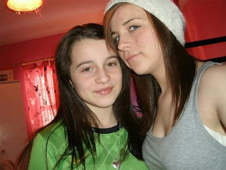 Erin Gallagher (13), left, and her sister Shannon (15) took their own lives last year