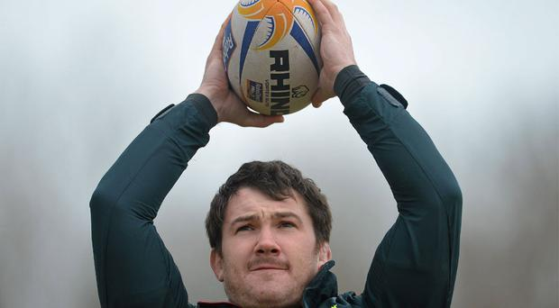 Damien Varley goes through his paces during the Munster training session at the University of Limerick this week