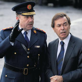 Garda Commissioner Martin Callinan with Minister for Justice Alan Shatter.
