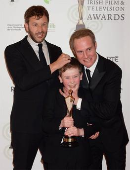 Chris O'Dowd, Peter McDonald and David Rawle of 'Moone Boy', best TV entertainment