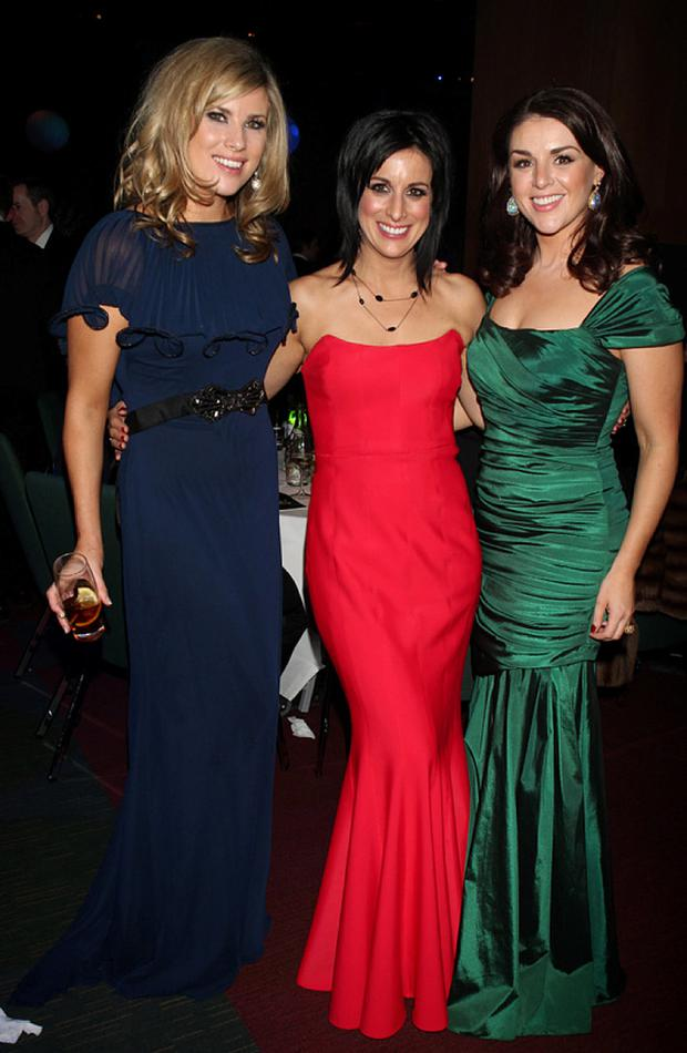 Jenny Buckley, Lucy Kennedy and Sile Seoige at the IFTA after party.