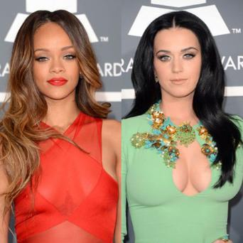 Rihanna and Katy Perry both went against CBS's strict wardrobe rules by flashing the flesh