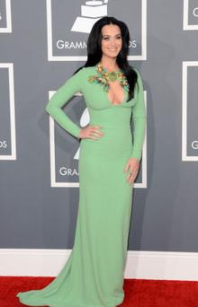 Katy Perry made the most of her assets in a cleavage-revealing Gucci dress