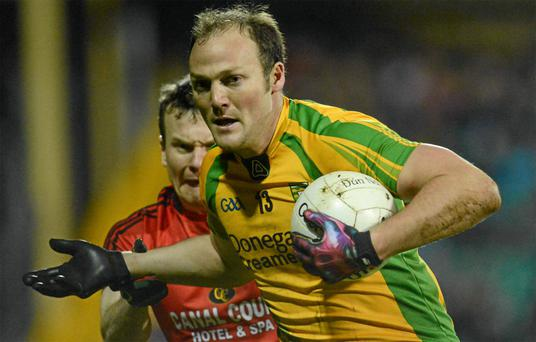 Donegal's Colm McFadden in action against Daniel McCartan