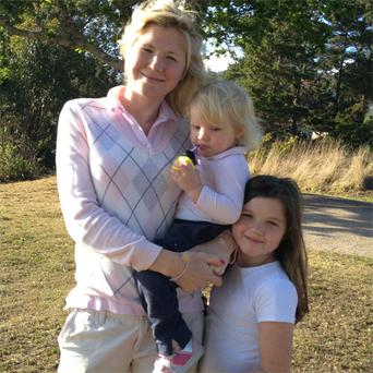 Candice Gannon (left) with her daughters Olivia (2) and Ellie