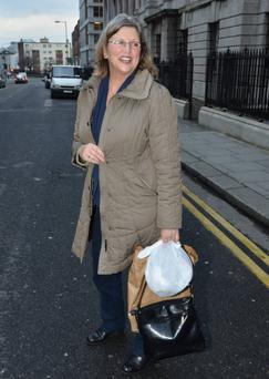 Amy Huberman's mum Sandra visits her daughter and new grandaughter Sadie in Holles Street.