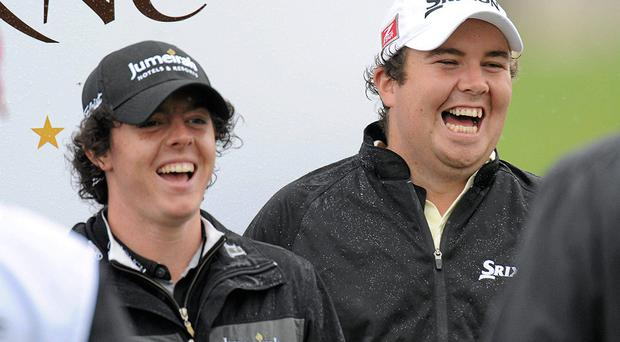 World No 1 Rory McIlroy will got head-to-head with old friend Shane Lowry at next week's World Match Play Championship