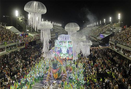 Brazil's carnivals burst into life in an explosion of colour as five days of partying takes place on the streets of Rio de Janeiro. The events are expected to draw 1.1 million tourists and generate some €485m for the local economy