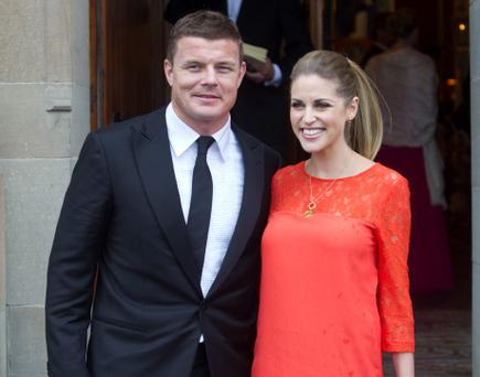 Brian O'Driscoll and his wife Amy Huberman