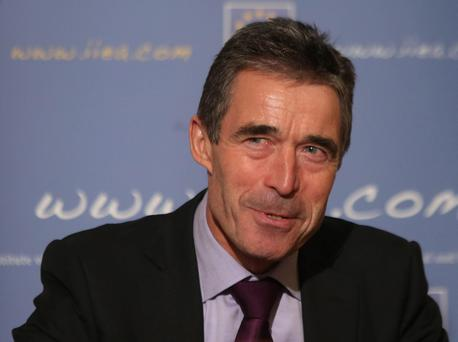 NATO Secretary General Anders Fogh Rasmussen in Dublin.