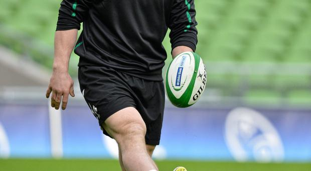 9 February 2013; Ireland's Cian Healy during the captain's run ahead of their RBS Six Nations Rugby Championship match against England on Sunday. Ireland Rugby Squad Captain's Run, Aviva Stadium, Lansdowne Road, Dublin. Picture credit: Brendan Moran / SPORTSFILE