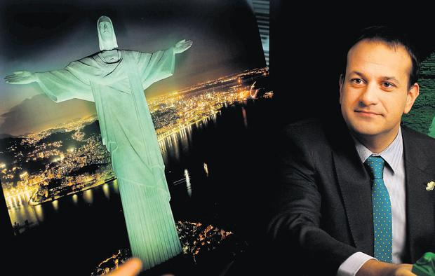 "Rio's Christ the Redeemer statue is part of the festivities. Minister Leo Varadkar said the tourism drive is ""good value""."