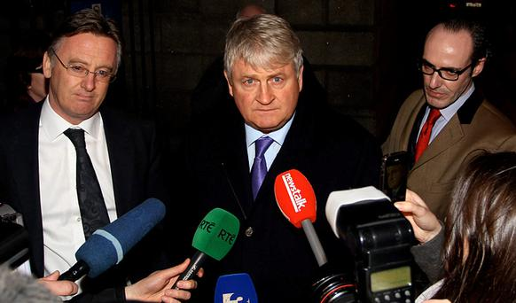 Denis O'Brien outside the High Court after winning Daily Mail defamation case