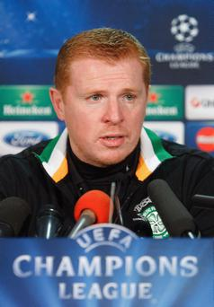 File photo dated 11/02/2013 of Celtic manager Neil Lennon. PRESS ASSOCIATION Photo. Issue date: Wednesday February 13, 2013. INeil Lennon has to rally his troops for a