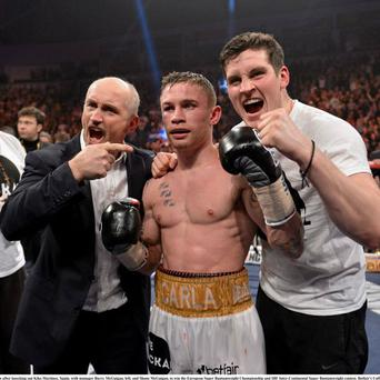 "Barry McGuigan has described Carl Frampton as being in ""unbelievable shape"" ahead of Friday's fight."