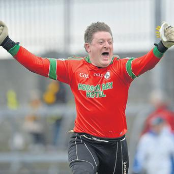 St Brigid's goalkeeper Shane Curran celebrates his side's victory over Crossmaglen Rangers in the 2013 All-Ireland club football semi-final