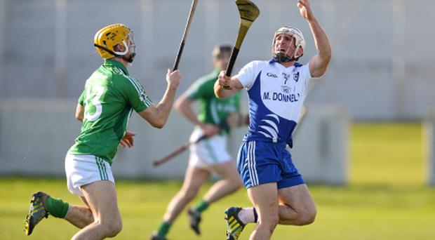 Niall Donoghue, Connacht, in action against Colin Fennelly, Leinster.