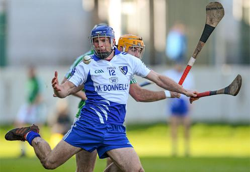 Cyril Donnellan of Connacht in action against Leinster's David Redmond in Tullamore
