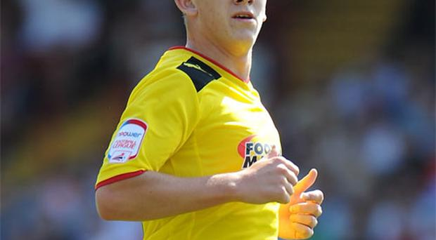 Sean Murray in action for Watford