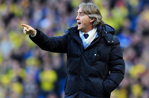 Roberto Mancini has rejected ongoing speculation over his future at the Etihad Stadium