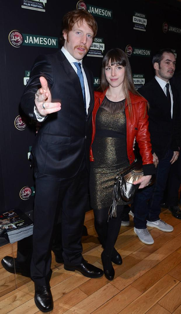 Martin Maloney and Tania Westander at the Hardy Bucks premiere.