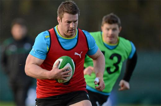 Sean O'Brien in action during squad training