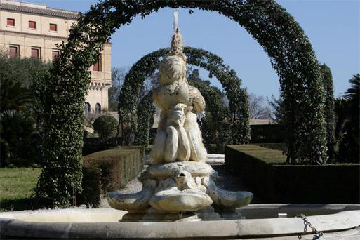 The Vatican Gardens, where Pope Benedict's new home will be situated