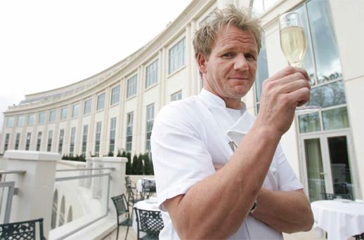 Celebrity chef Gordon Ramsey opened his first Irish restaurant in the hotel in Wicklow