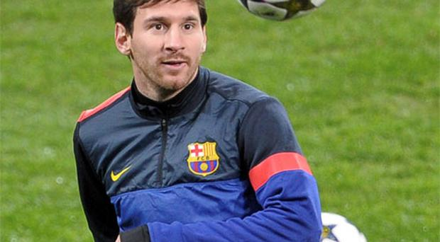 Lionel Messi will be trying to add to his tally of 54 Champions League goals tonight