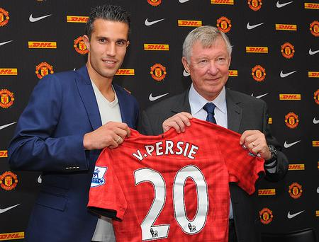 VAN PERSIE SOLD TO UNITED: Despite Wenger's best efforts, the club could not convince captain Robin van Persie to extend his contract and so decided to cash in on their talisman striker, whose goals helped Arsenal finish third last season. The Dutchman chose Manchester United and struck up an instant partnership with Wayne Rooney - scoring against Arsenal when they met in November.
