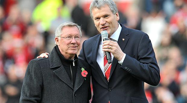 David Gill pictured with Manchester United manager Alex Ferguson