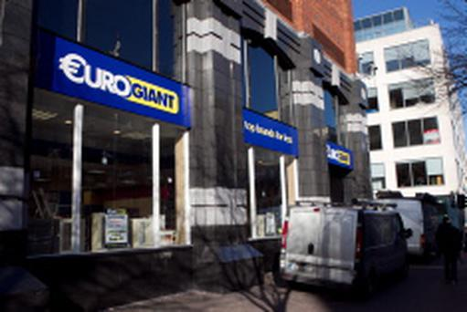 The new EuroGiant Store on the former site of Stringfellows on Parnell St
